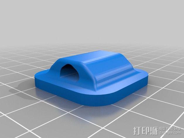 鞋带徽章 3D模型  图4
