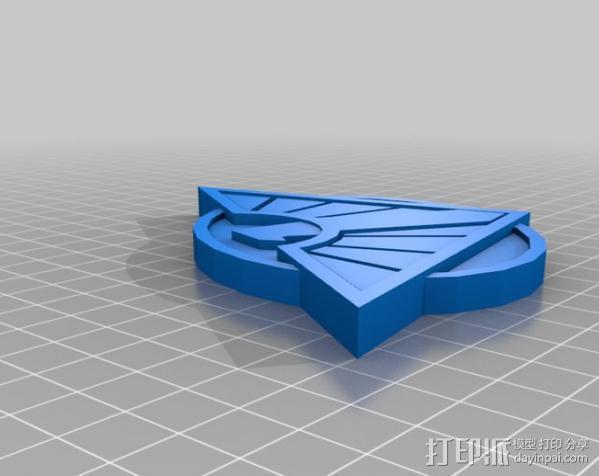 神奇女侠皮带头 3D模型  图2