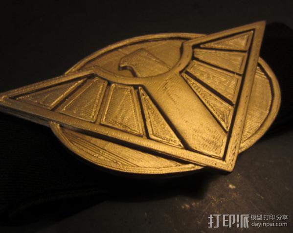 神奇女侠皮带头 3D模型  图4