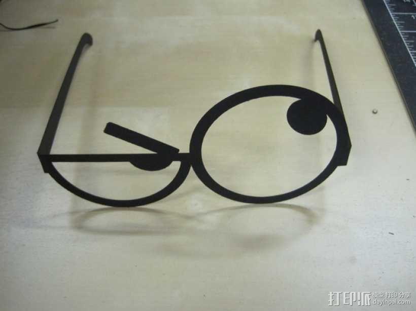 表情眼镜 3D模型  图1