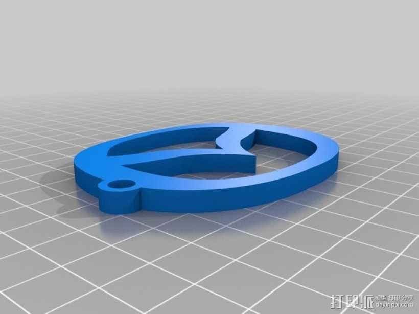 马自达钥匙扣 3D模型  图1