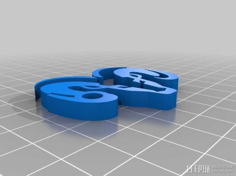 道奇钥匙链 3D模型  图1