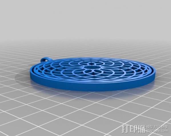 万花筒挂饰 3D模型  图1