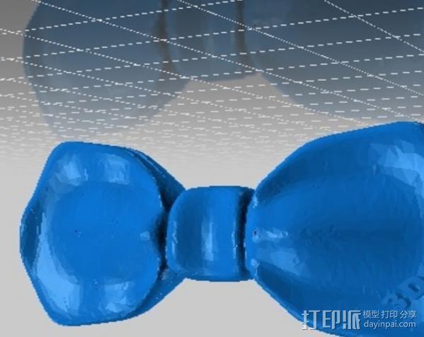 蝴蝶领结 3D模型  图1