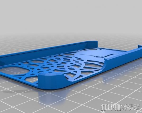 阿塔图尔克签名iPhone手机保护壳 3D模型  图1