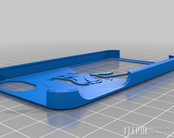 暴风部队的IPhone 4S外壳 3D模型  图1