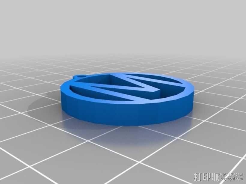 M字母挂饰 3D模型  图1