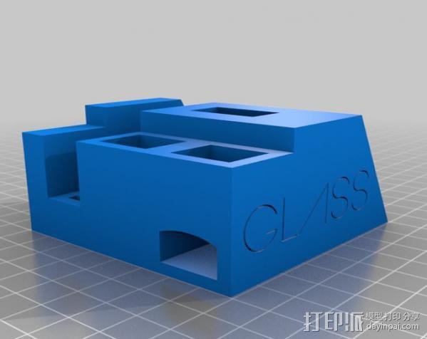谷歌眼镜台 3D模型  图2