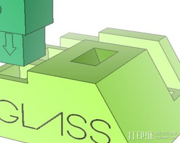 谷歌眼镜台 3D模型  图7