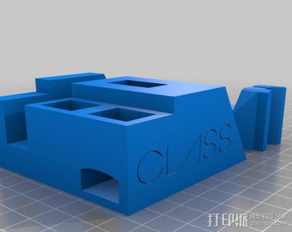 谷歌眼镜台 3D模型  图5