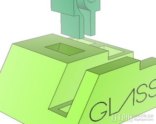谷歌眼镜台 3D模型  图8