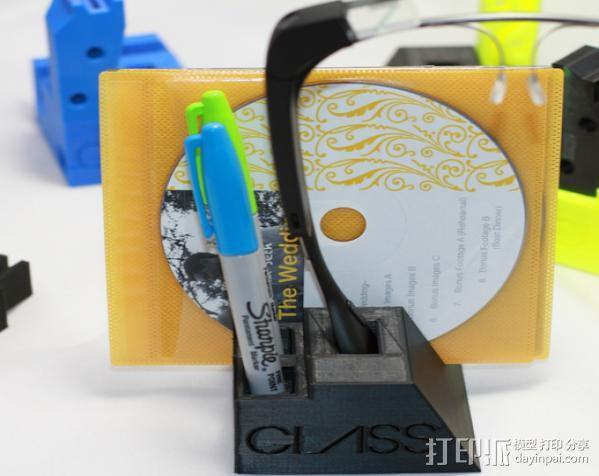 谷歌眼镜台 3D模型  图11