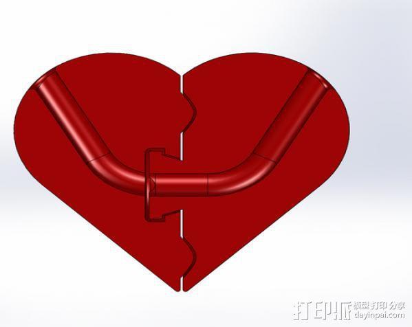 密码的心 3D模型  图2