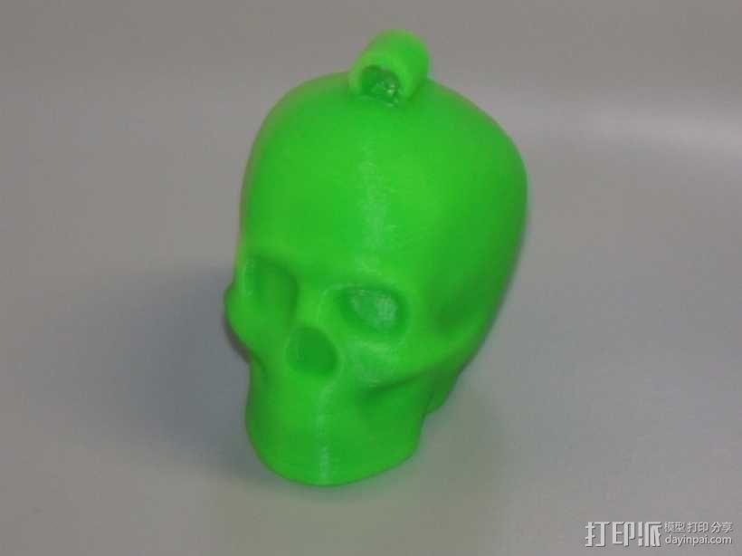 Lisa头骨模型钥匙扣 3D模型  图1