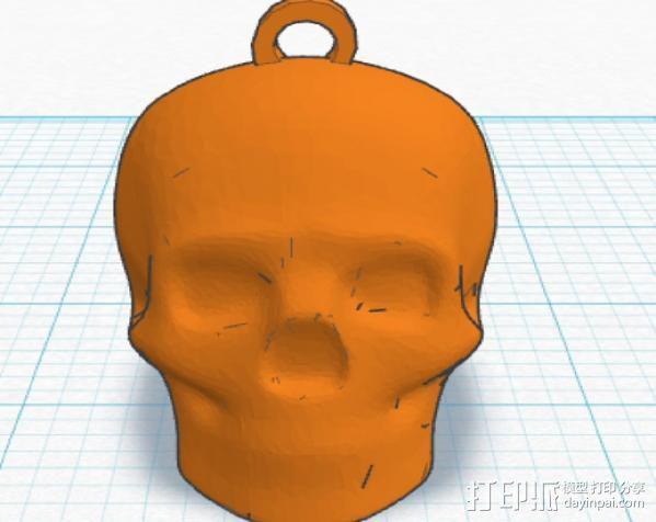 Lisa头骨模型钥匙扣 3D模型  图3