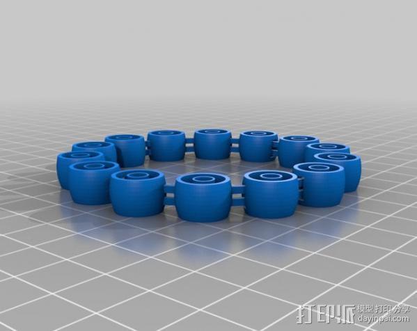 定制手环 3D模型  图1