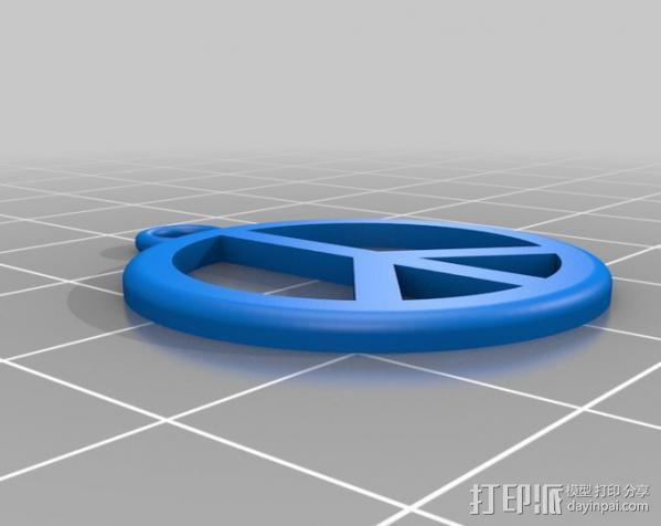 和平耳环 3D模型  图2