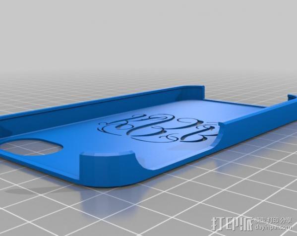 艺术字KBB iPhone手机壳 3D模型  图1