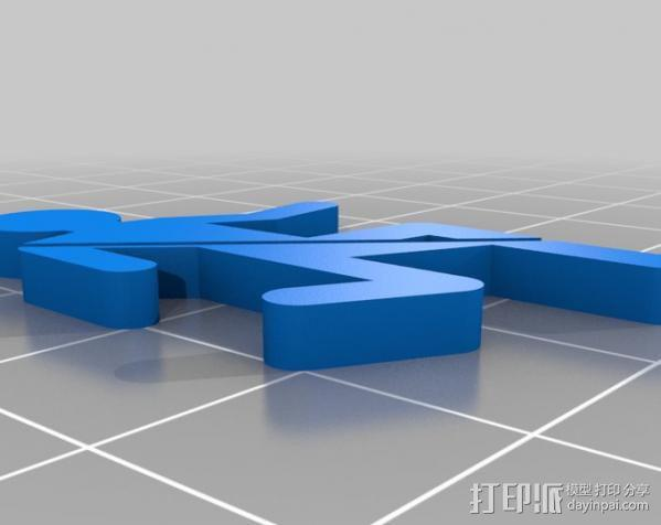 传送门 耳坠 3D模型  图3