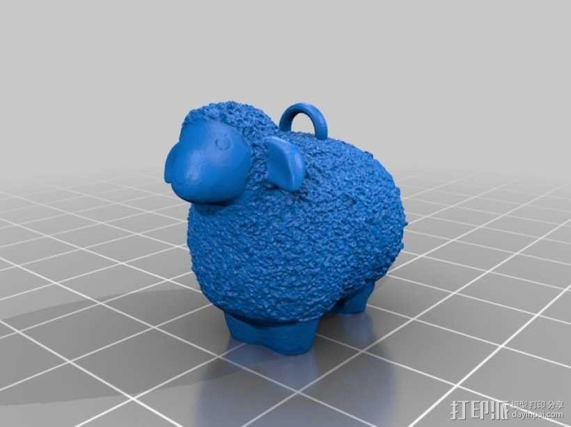 羊羔挂链 3D模型  图2