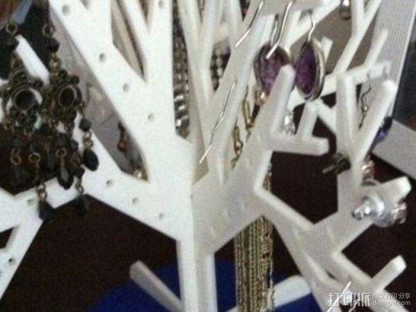 首饰树 首饰架 3D模型  图1