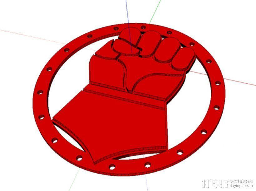 绯红之拳 徽章 3D模型  图1