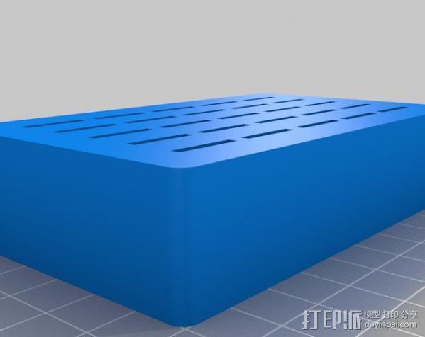衣领撑 盒子 3D模型  图3
