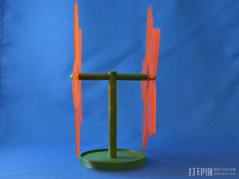 花形耳坠架 3D模型  图1