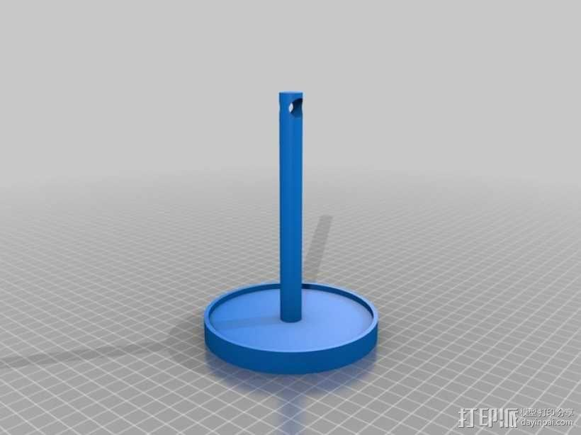 花形耳坠架 3D模型  图3