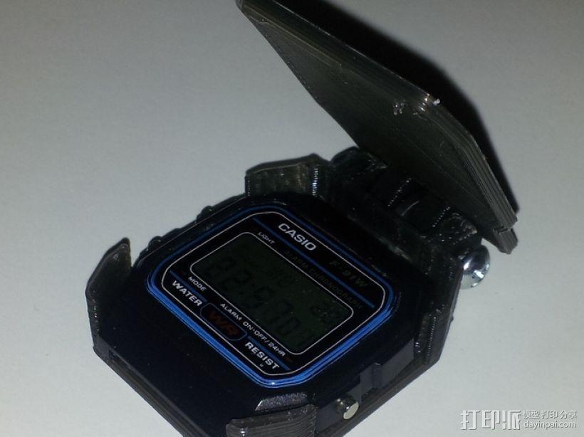 卡西欧手表袋 手表盒 3D模型  图1