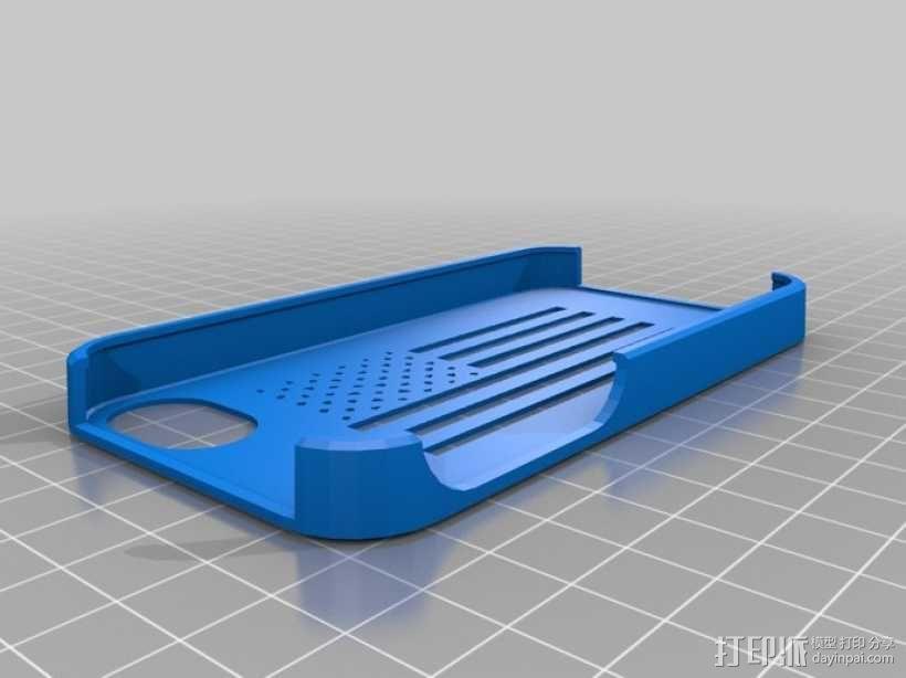 美国国旗苹果外壳 3D模型  图1