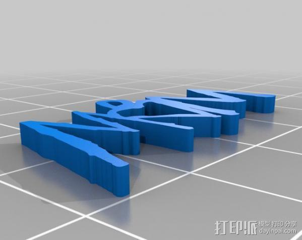 妈妈项链 3D模型  图3
