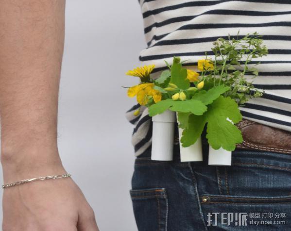 圆柱形盆栽筒 3D模型  图5