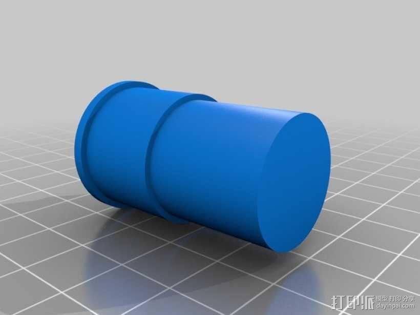 圆柱形盆栽筒 3D模型  图9