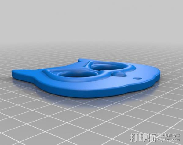 猫头鹰挂饰 3D模型  图2