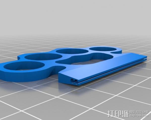 指节铜环 3D模型  图1