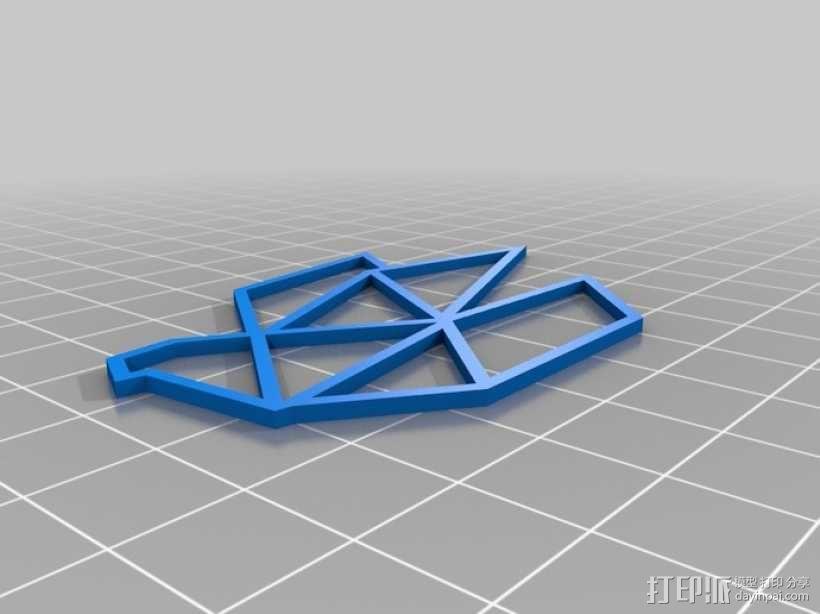 折纸鸟 3D模型  图1