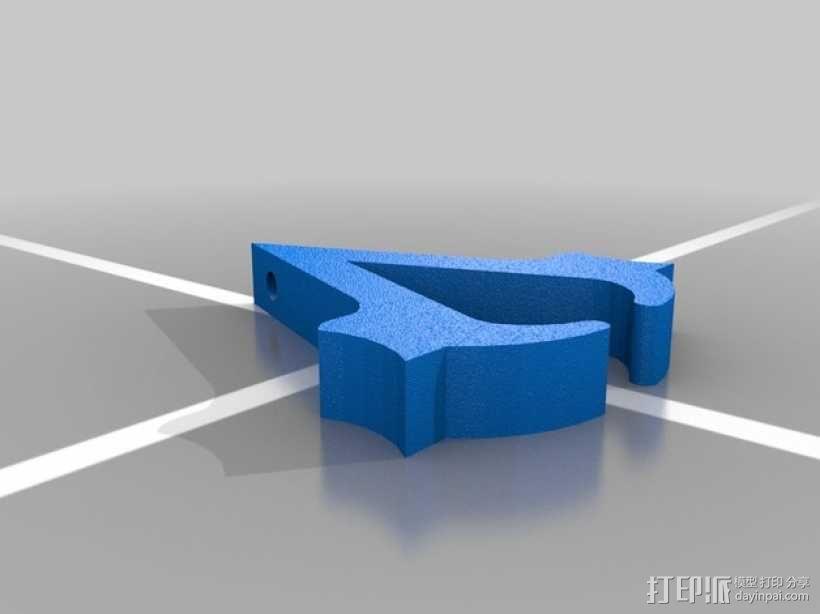 刺客信条3钥匙链 3D模型  图3