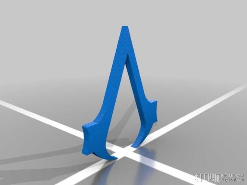 刺客信条3钥匙链 3D模型  图4