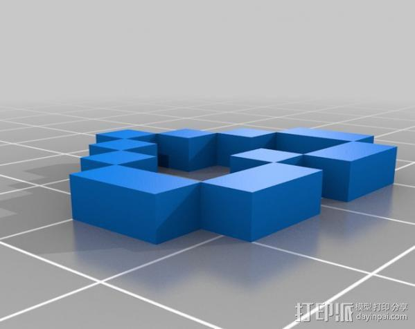 Rails Girls心形标志 3D模型  图4