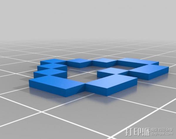 Rails Girls心形标志 3D模型  图6