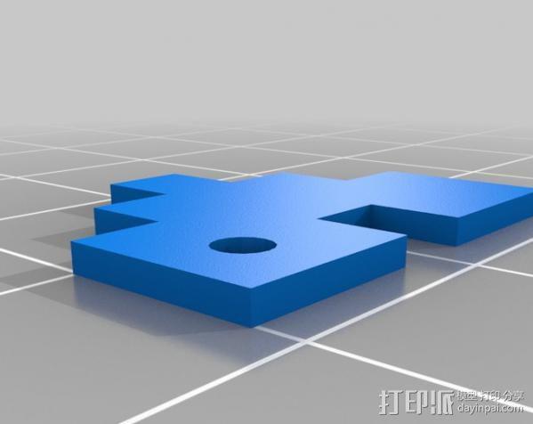 Rails Girls心形标志 3D模型  图7