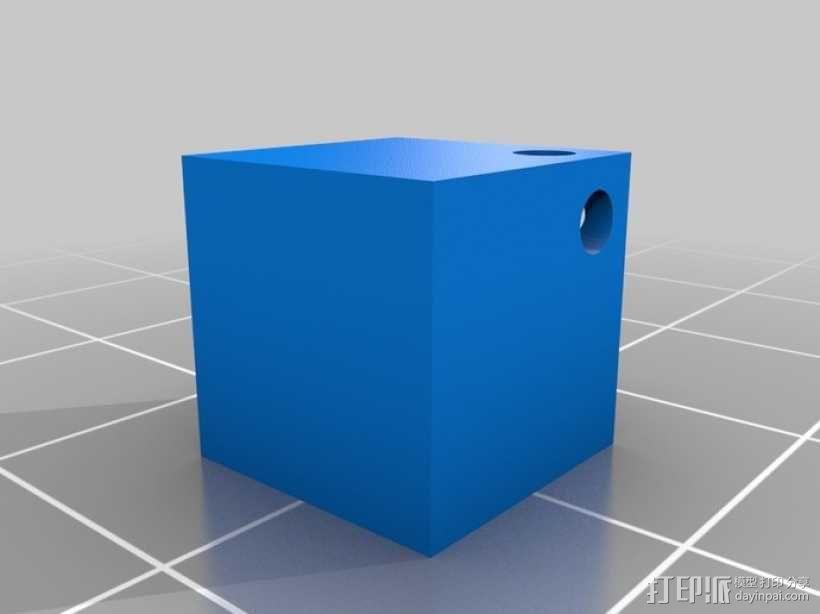 立方体坠饰 3D模型  图2