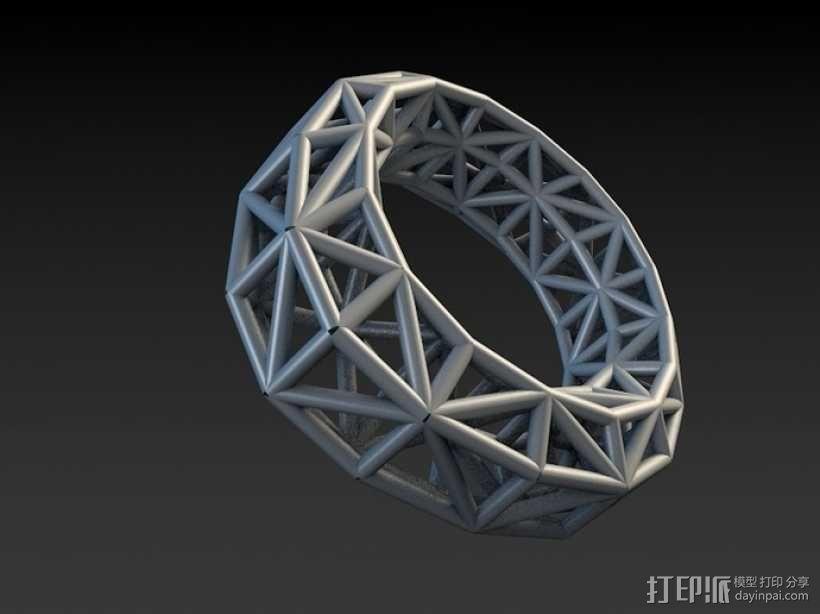 几何指环 3D模型  图2
