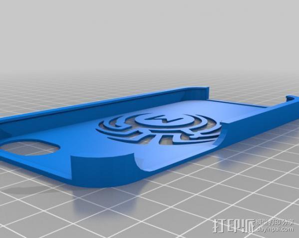 M 号部落的iPhone 5 外壳 3D模型  图1