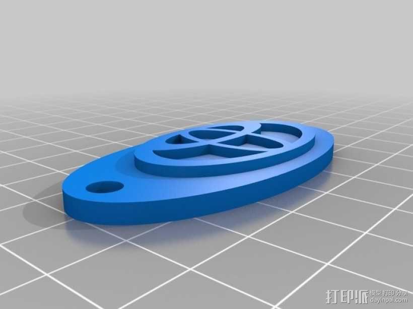本田标志钥匙链 3D模型  图1