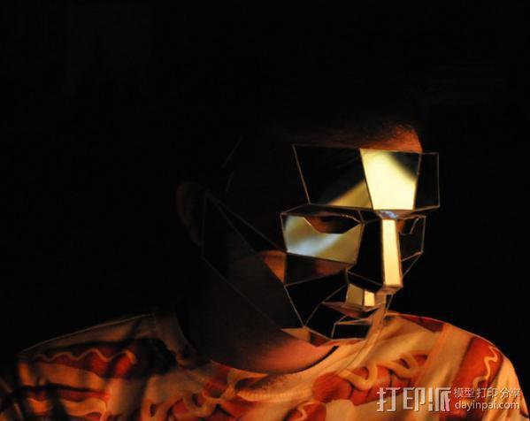 低聚镜面面具 3D模型  图3