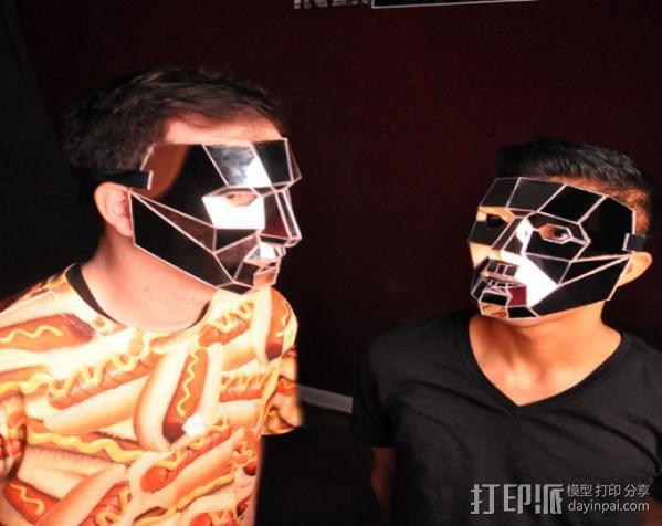低聚镜面面具 3D模型  图2