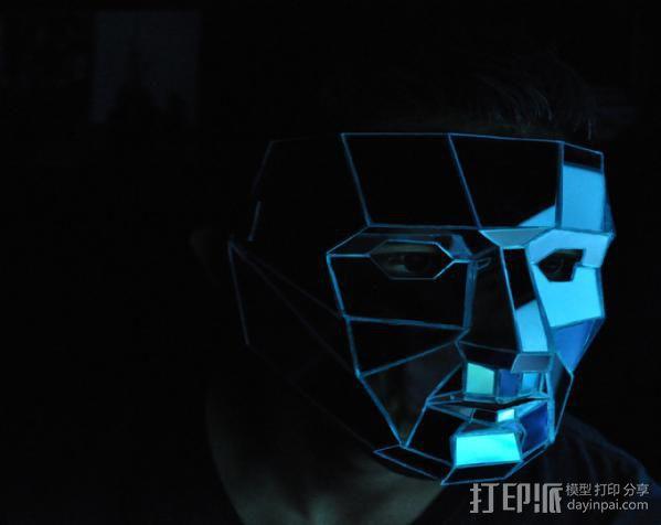 低聚镜面面具 3D模型  图4