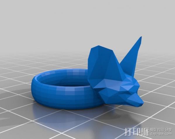 非洲狐戒指 3D模型  图3